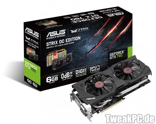 Asus: Strix GeForce GTX 780 6GB mit passiver Idle-Kühlung vorgestellt