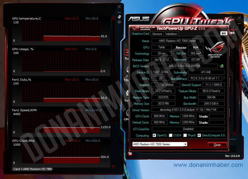 AMD Radeon HD 7950: CPU-Z-Screen zeigt Spezifikationen