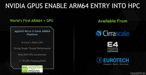 Nvidia: Tesla K20 treibt Hochleistungs-PC mit acht ARM-Kernen an