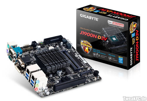 Gigabyte stellt J1900N-D3V Mini-ITX-Mainboard vor