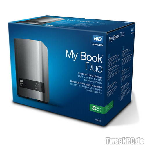 Western Digital: My Book Duo mit 8 TB Speicherplatz