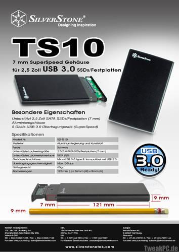 SilverStone Treasure TS10: Gehäuse für 2,5-Zoll-SSDs oder HDDs