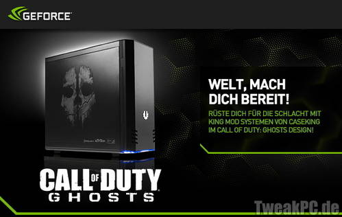 Caseking: Call of Duty PC-Systeme - Inklusive Call of Duty: Ghosts und 3 weiteren Games kostenlos