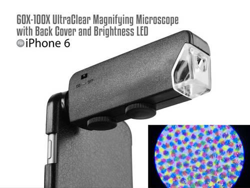 iPhone 6: Mikroskop mit 100-facher Vergrößerung für die Hauptkamera