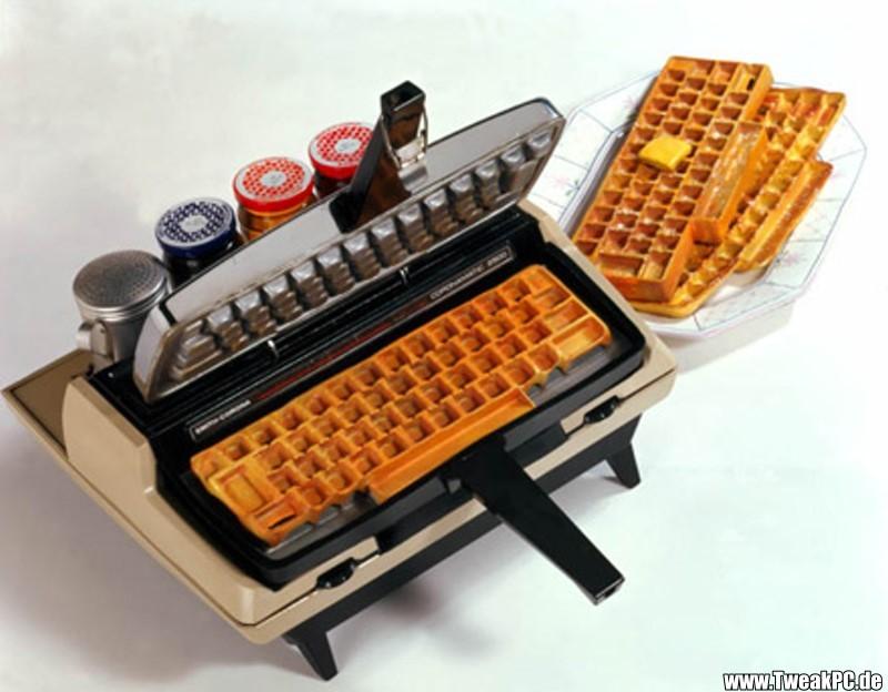 Waffle typewriter, via Craziest Gadgets