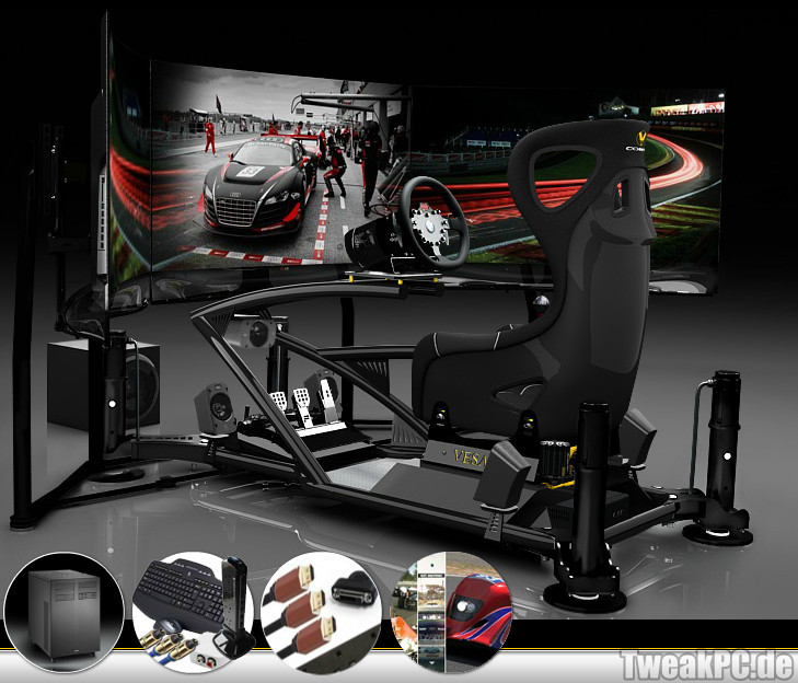 vesaro luxus renn sessel f r gamer f r euro. Black Bedroom Furniture Sets. Home Design Ideas