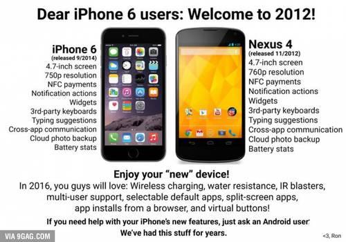 Konkurrenz verhöhnt Apple für iPhone 6