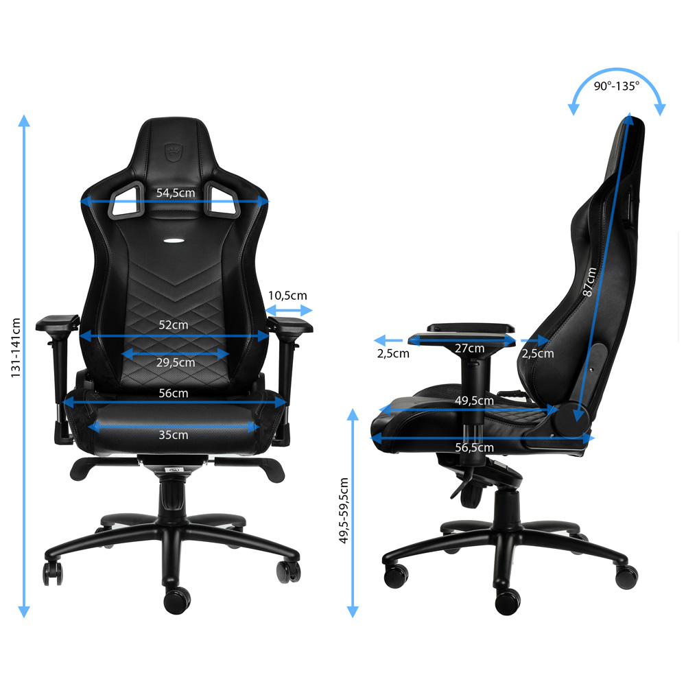 noblechairs epic gaming stuhl im 6 monate dauertest. Black Bedroom Furniture Sets. Home Design Ideas