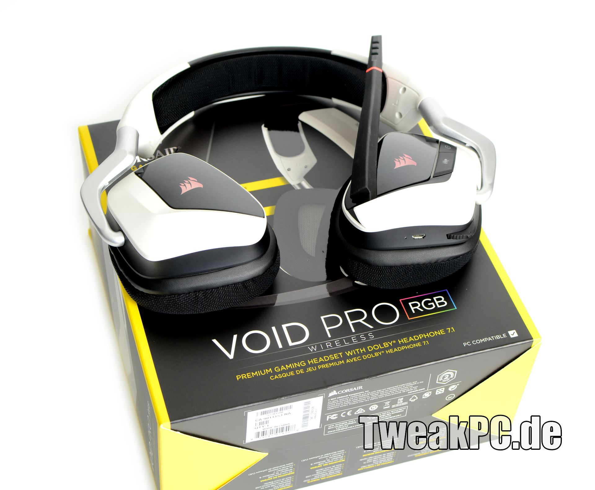 corsair void pro rgb wireless gaming headset im test. Black Bedroom Furniture Sets. Home Design Ideas