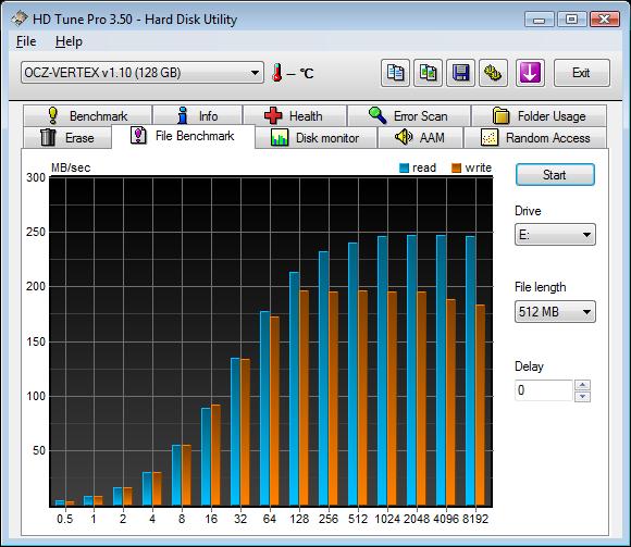 OCZ Vertex 120 GB - schnelle SSD mit 64 MB Cache Speicher - HD Tune ...
