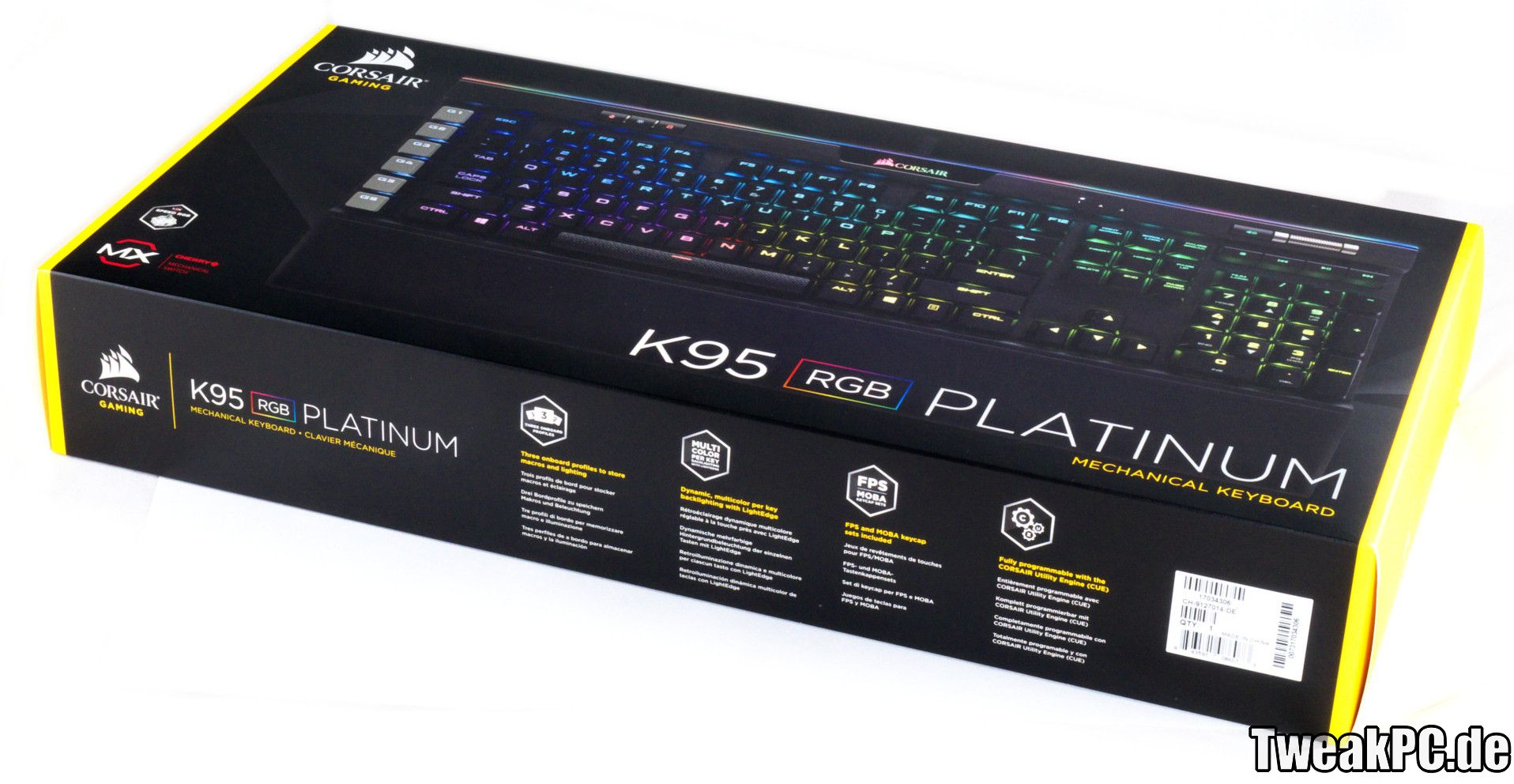 Corsair K95 Rgb Platinum Im Test Luxus Fr Gamerhnde Mechanical Gaming Keyboard Cherry Mx Speed